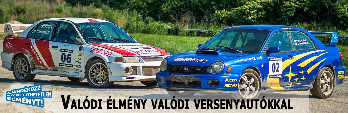 Több, mint 300 lóerős rally autókat vezethetsz aszfaltozott és murvás pályaszakaszokon!