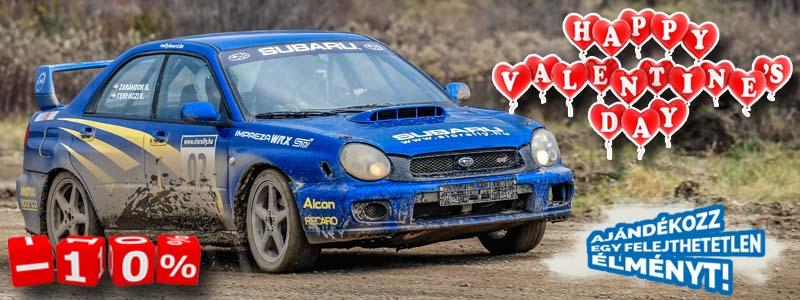 Ajándékozz egy felejthetetlen rally autó élményvezetést Valentin napra!