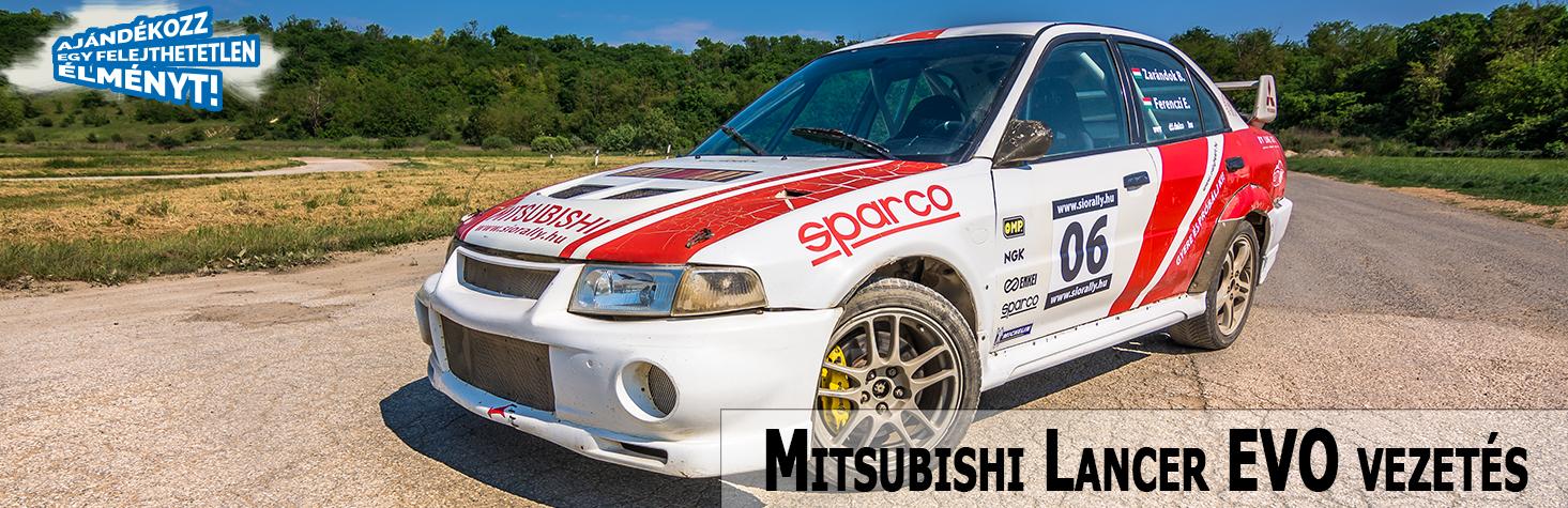 Lepd meg családtagjaidat, barátaidat, vagy akár saját magadat egy igazi, felejthetetlen Mitsubishi rally autó élményvezetés ajándékkal!
